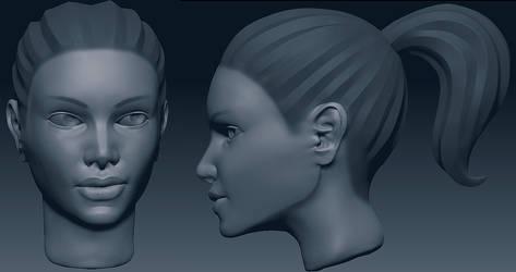 Girl Head Sketch 2