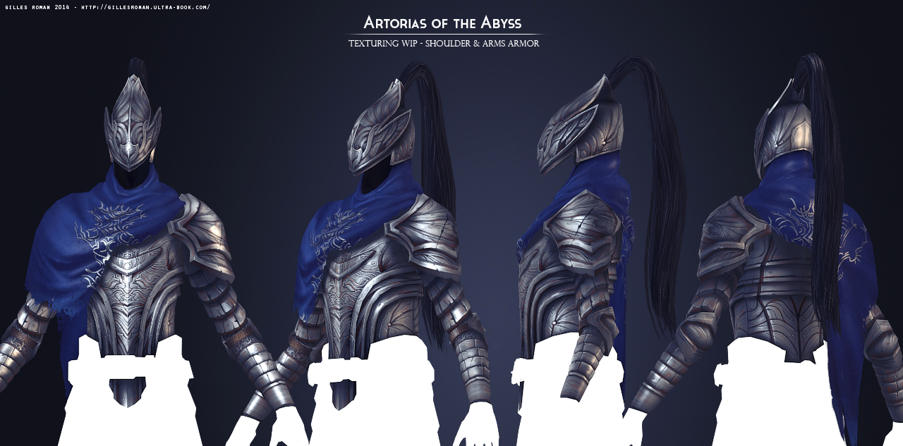 Artorias of the Abyss Texturing WIP by Soilworker06 on