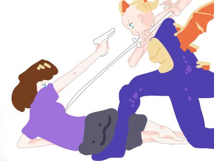Hannah X Spyro by aaaarachnids