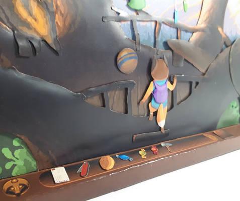 TailFox paper diorama #2 - Nest (2)