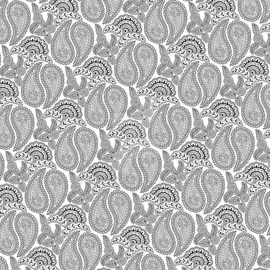 Henna pattern color black on white by alandsteev on DeviantArt