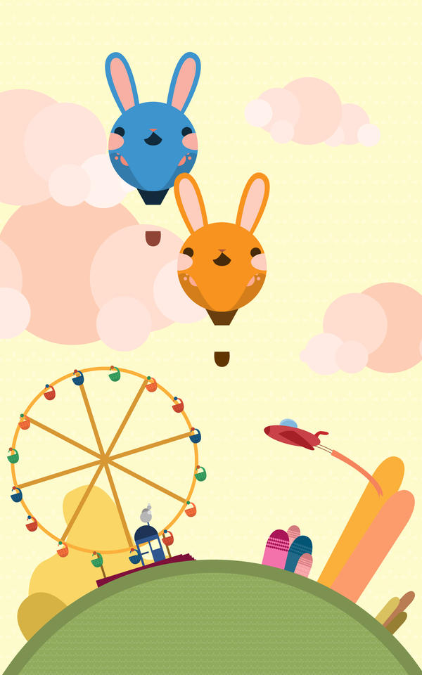 Bunny Carnival Land by al3map2