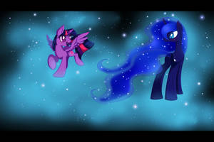 Astral Meeting by SilverFlitterDragon