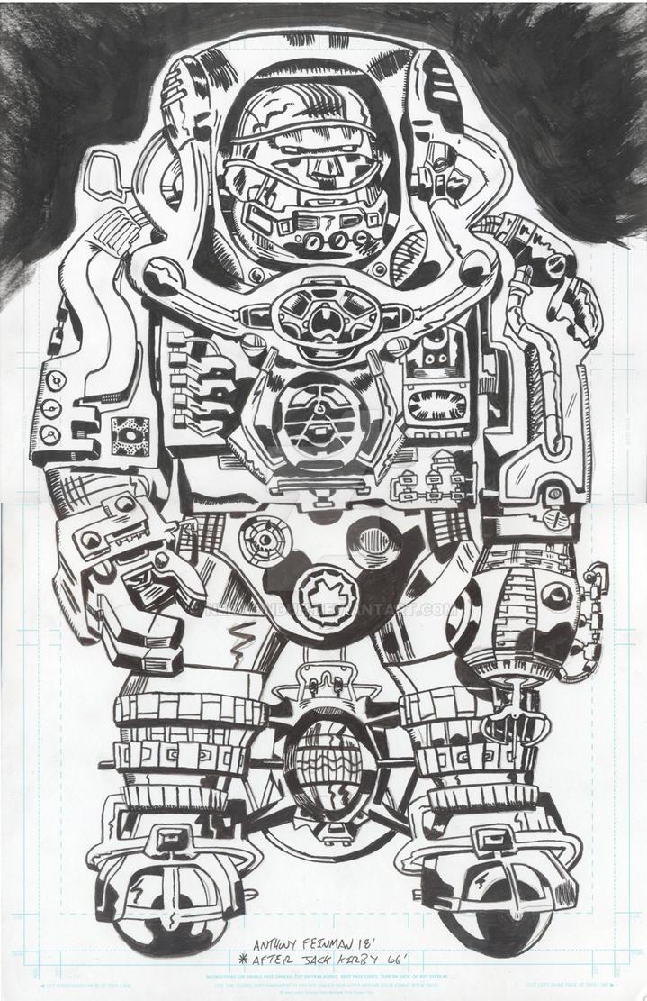 Spaceman Kirby by Nerwonduh