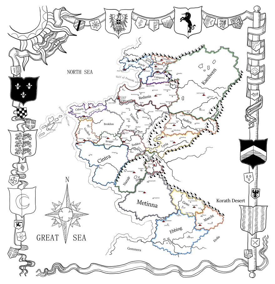 The witcher world map my version by truisticwharf on deviantart the witcher world map my version by truisticwharf gumiabroncs Choice Image