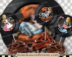 Alice in Wonderland Digital Collage Sheet