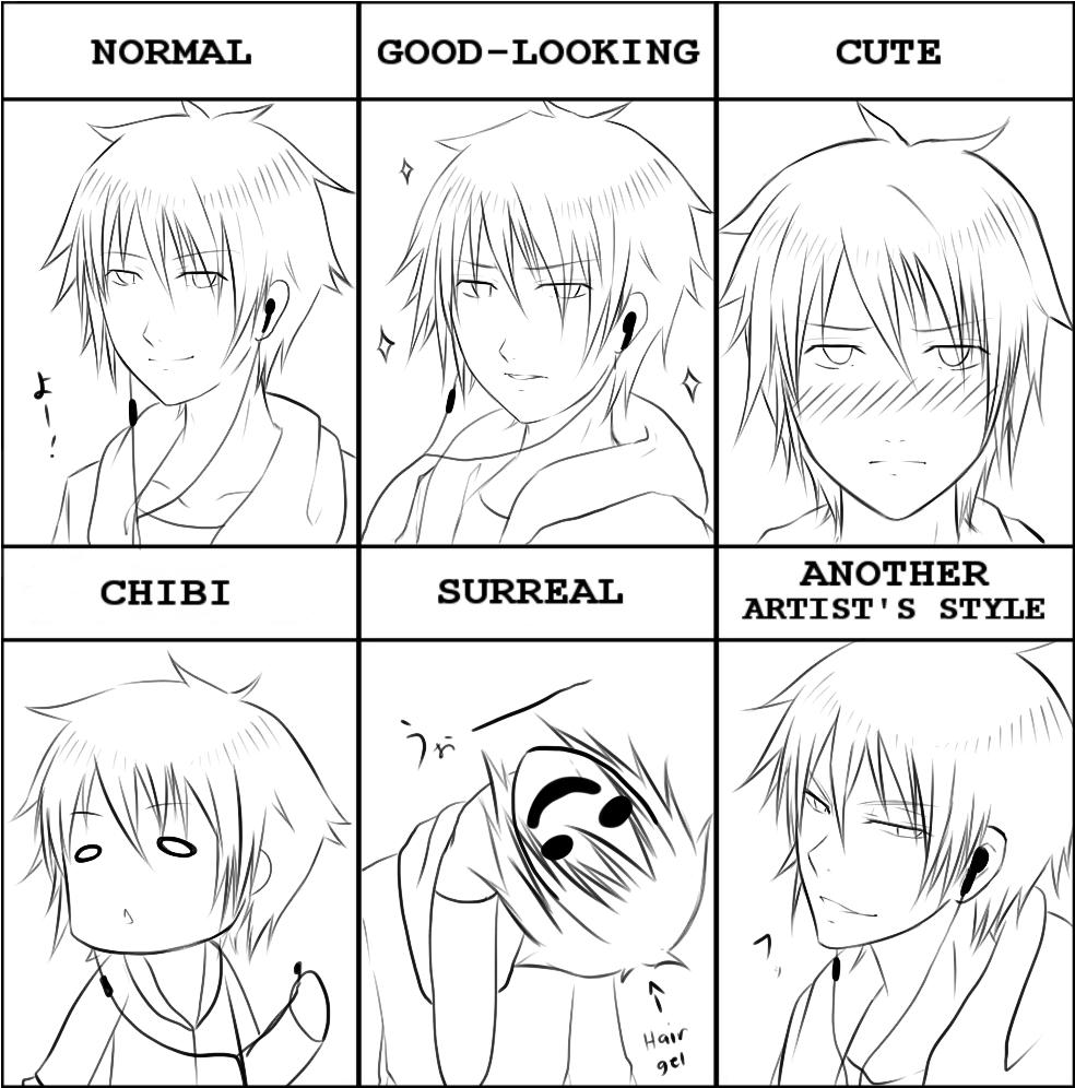 PIXIV Style Meme OC Hanamoto Shima By SoulTribute On DeviantArt - Hairstyle drawing meme