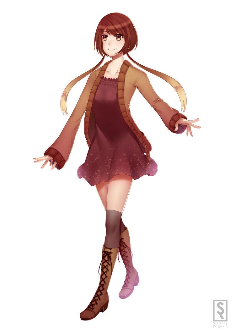 Kamokuon Shiina [redesign] by SoulTribute13