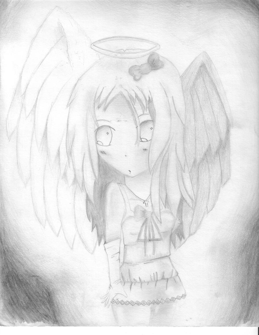 Knuxy's Art Extravaganza Angel_Girl_Sketch_by_ghostrider9000