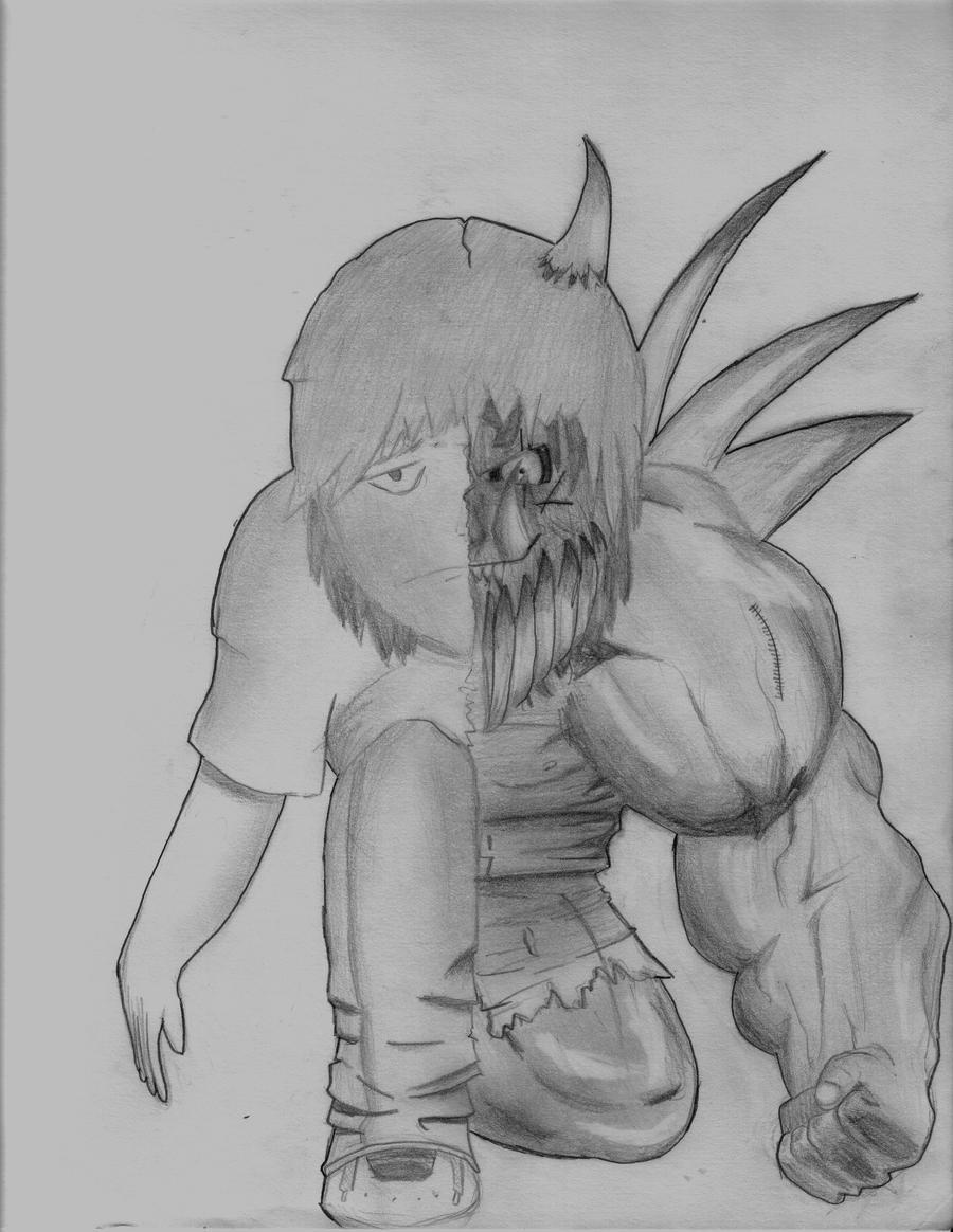 Knuxy's Art Extravaganza Demon_Man_by_ghostrider9000