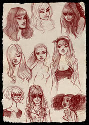 Doodle Face Dump by babsdraws