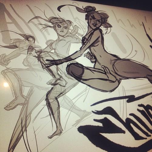 Chun Li sketch! by babsdraws