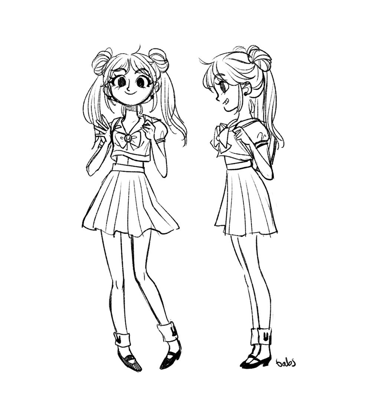 Cutie Usagi by babsdraws