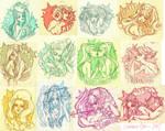 Zodiac Ladies by babsdraws