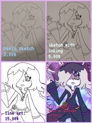 new and improved updated commission sheet