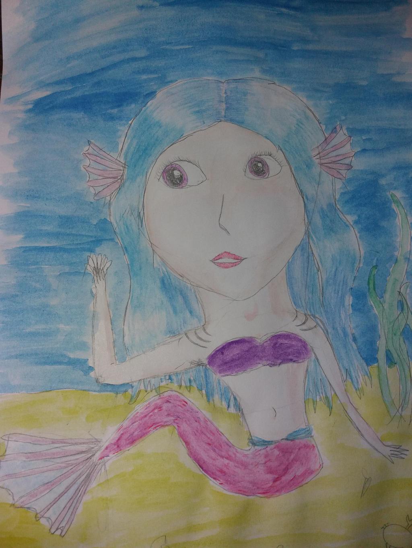 water colored mermaid by yiska13