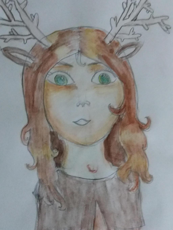 deer-girl by yiska13