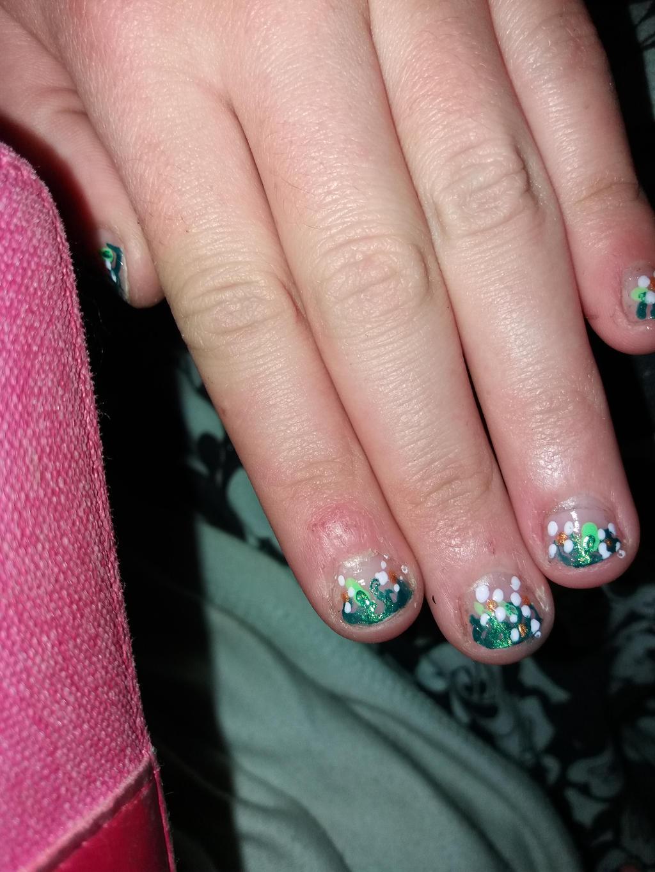 flower field nail polish by yiska13