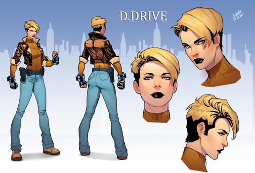 Dina Drive character for Artist Avatar Challenge
