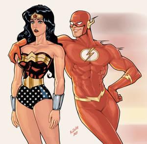 Wonder Woman And Flash