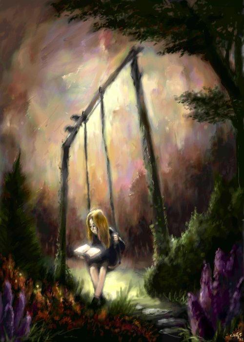 on the swing by Bakenius