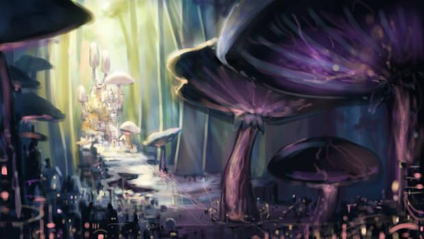 Mushroom City Sketch