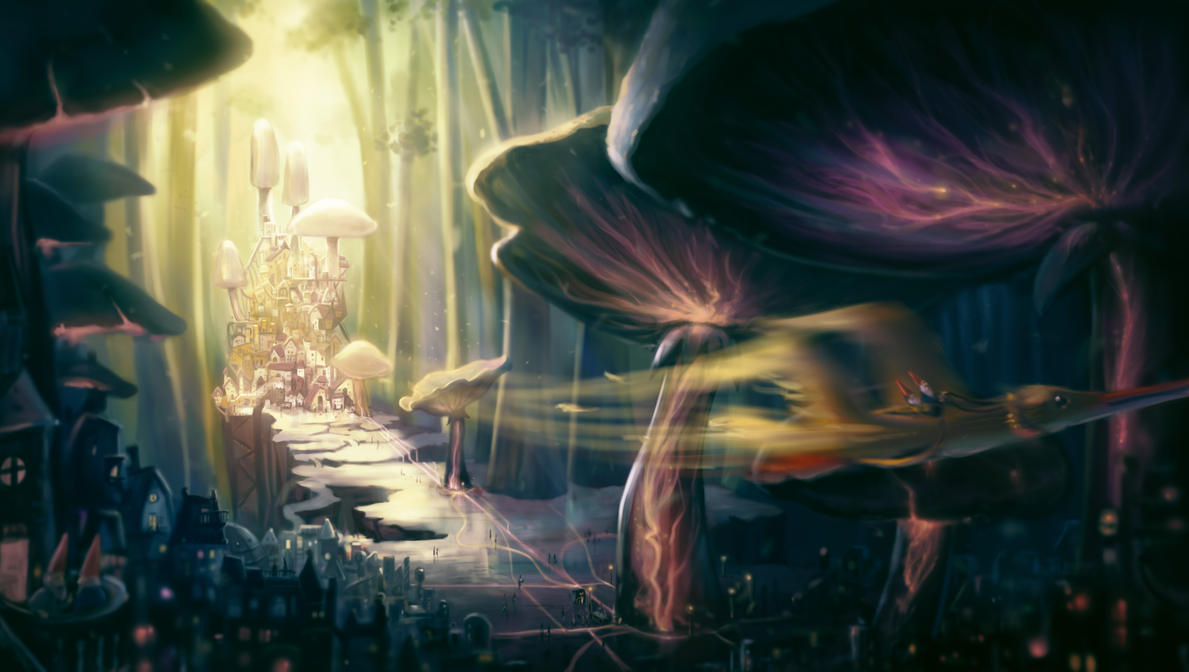 Mushroom City by Bakenius