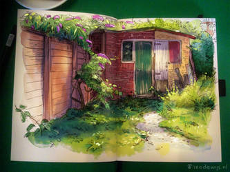 Old garden shed by Bakenius