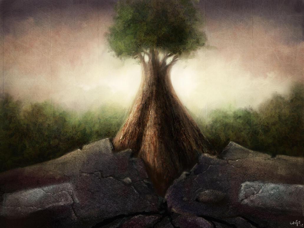 The Disturbed Tree by Bakenius