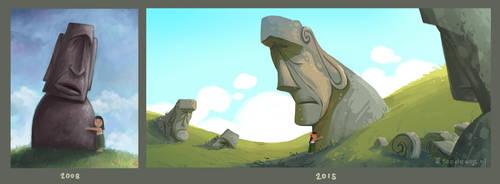 Art Skills 2008 vs 2015 by Bakenius
