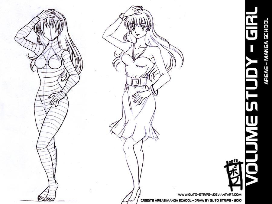 Manga Sdudy Female Volume by guto-strife-1