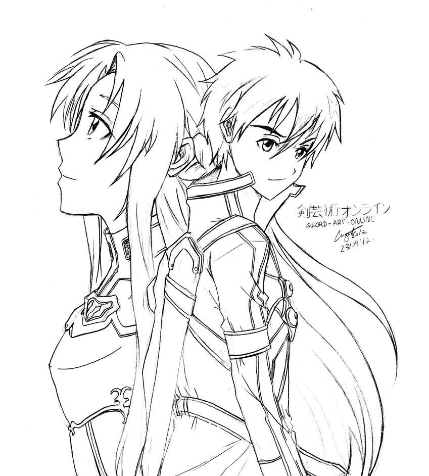 Sword art online fanart by guto strife 1 on deviantart for Sword art online coloring pages