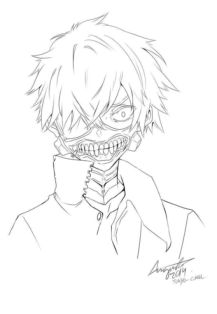 Tokyo Ghoul Chibi Anime Coloring