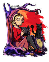 Sabrina and Salem by gutostrifeart
