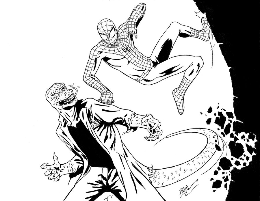 spiderman vs lizard coloring pages photo11 - Lizard Coloring Pages 2
