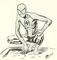 Ultimate Spider-Man sketch by CagsCreations