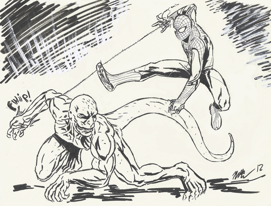 The amazing spider man vs the lizard by cagscreations on for Amazing spiderman coloring pages