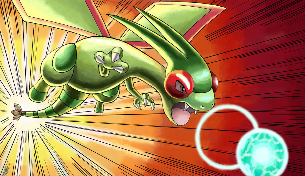 Request: Flygon's Dragon Pulse by ECrystalica