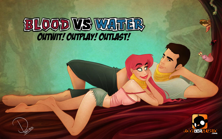 Cherry Pinup : BLOOD vs WATER! by ToonBoxStudio