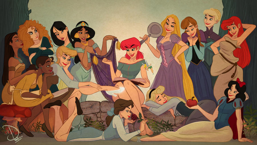 Cherry and the Disney Princesses