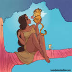Tropical Princess and her flying Leopard