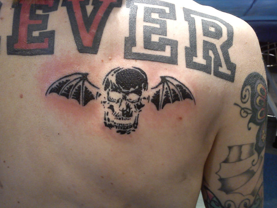 a7x death bat tattoo by malitia tattoo89 on deviantart. Black Bedroom Furniture Sets. Home Design Ideas