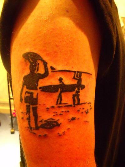 Surfer sillhouette tattoo by ~Malitia-tattoo89 on deviantART