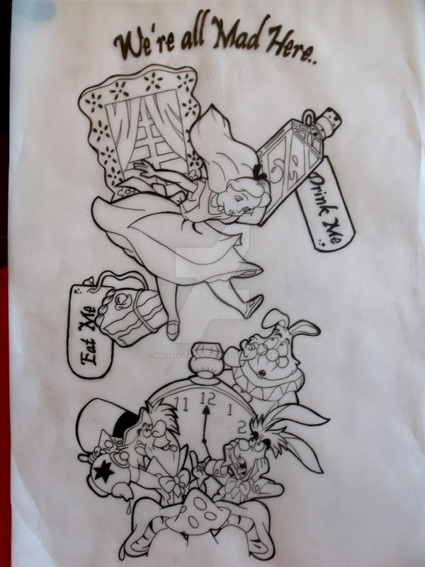Alice In Wonderland Sleeve Tat By Malitia Tattoo89 On Deviantart