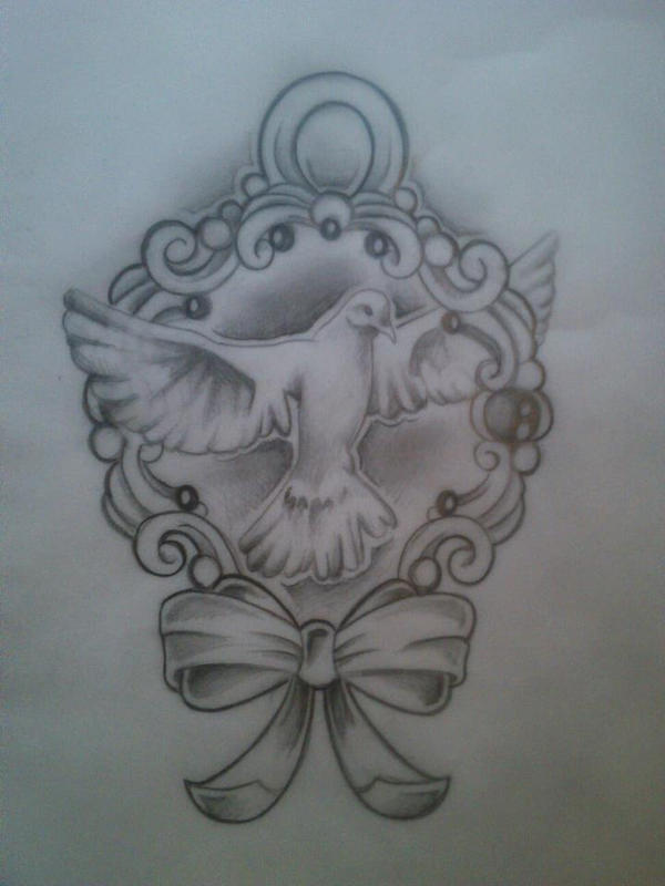 Dove tattoo drawing