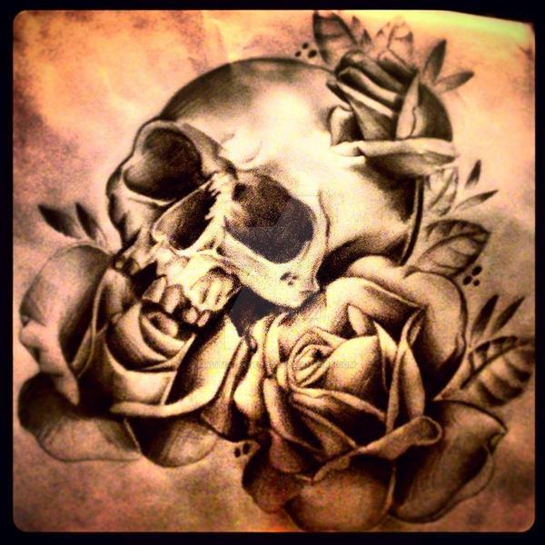 Skull Rose Top Sleeve Tattoo By Malitia Tattoo89 On Deviantart