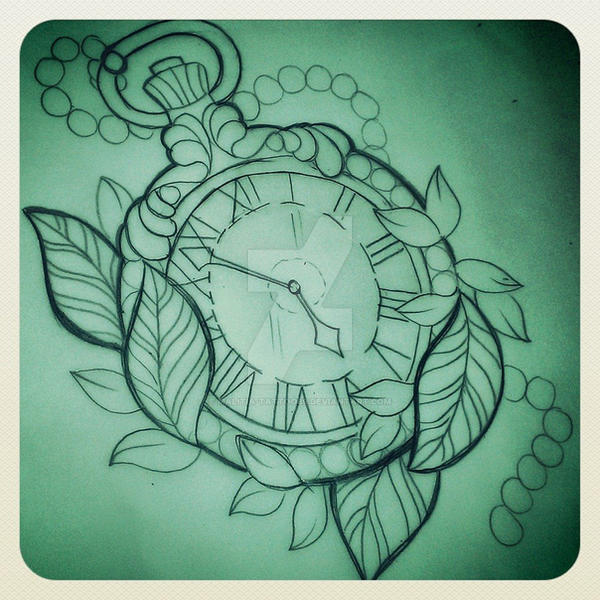 pocket watch tattoo by Malitia-tattoo89 on DeviantArt