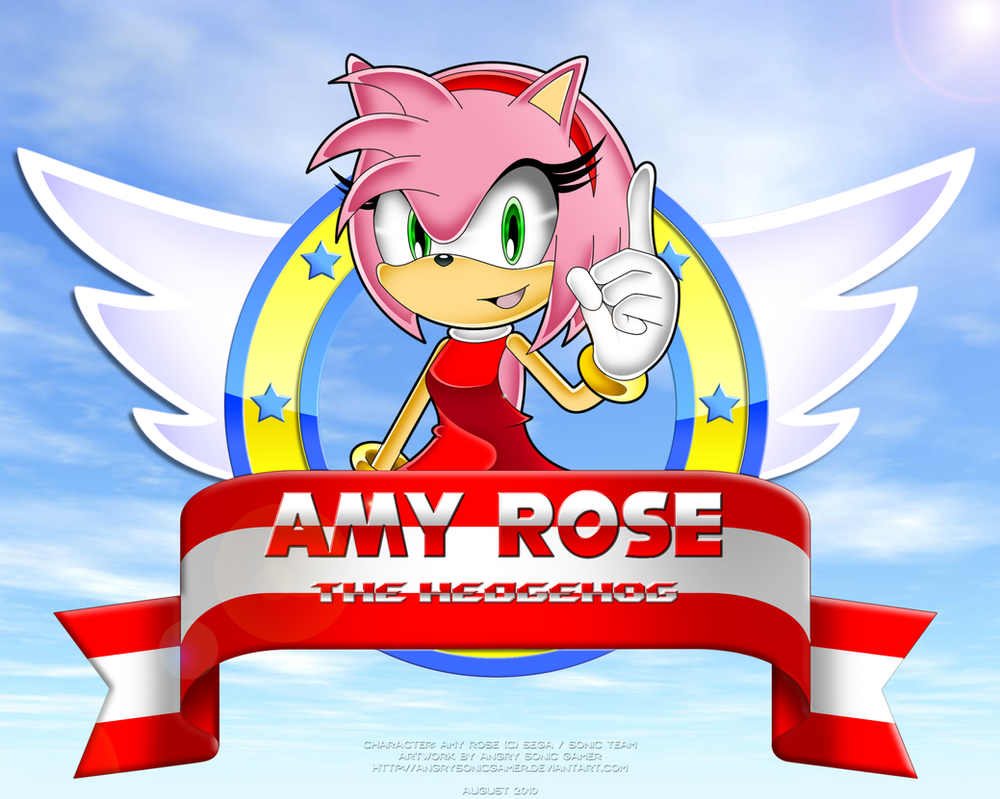 Amy Rose the Hedgehog by Angrysonicgamer on DeviantArt
