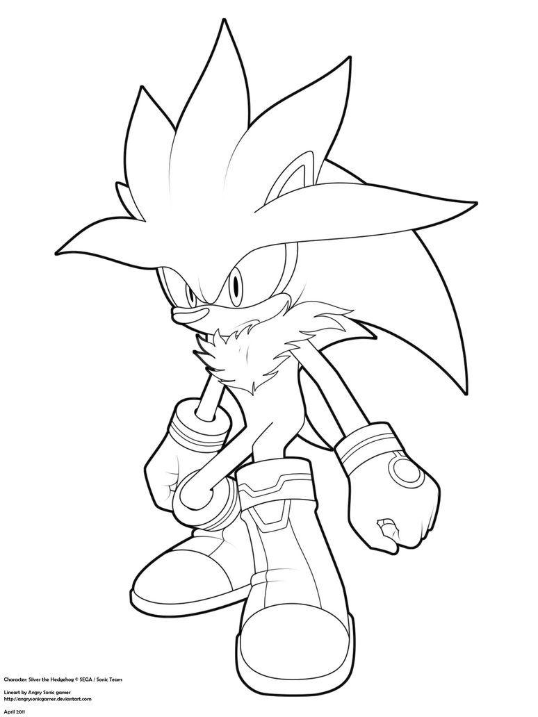 Sonic Silver Coloring Pages