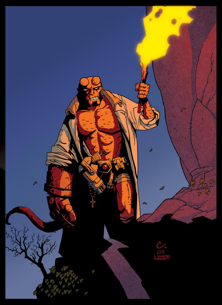 Hellboy by JoshuaINK by JWadeWebb